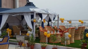 OTR 16 Pink Square mall Jaipur rooftop gazebo