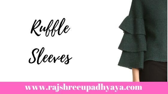Ruffle sleeves